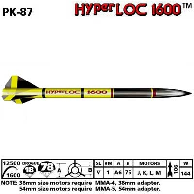 HYPER LOC1600 ROCKET KIT