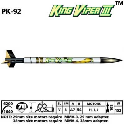 KING VIPER 3 ROCKET KIT